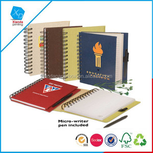 Hot sale Eco-Friendly Journal Notebook/Eco Safe Pen Notebook Combo