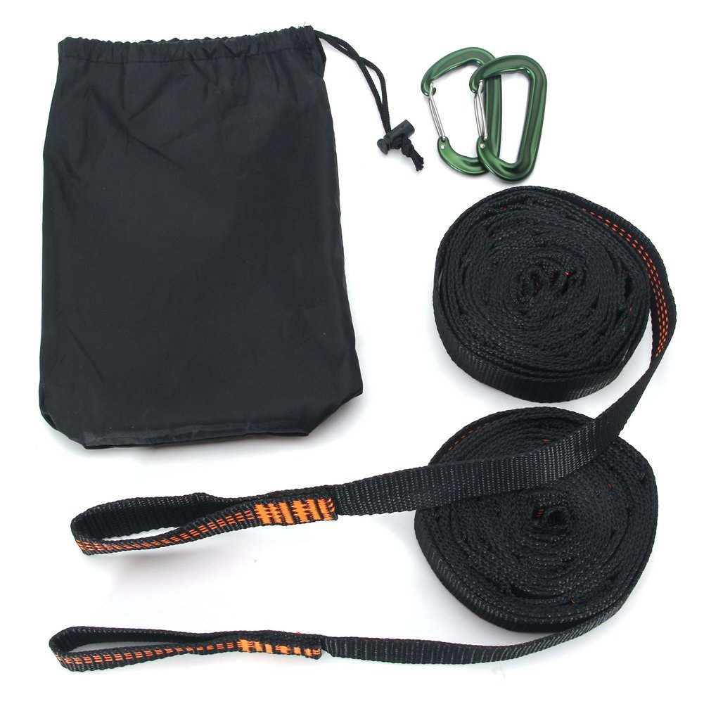 DOHOT 1100 LBS Lightweight Tree Friendly Camping Heavy Duty Adjustable Hammock Strap with Carabiners,Best Portable Strap System With Fast And Easy Setup - (Set of 2,18 Feet Long,28 Loops)