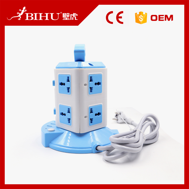 Bentuk Menara Listrik Soket Ekstensi Double Port 2 Usb Outlet Power Socket
