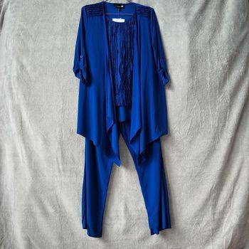 Hot sale apparel stock lot new pant coat design navy blue coat women 3  piece living 61814ce1ad