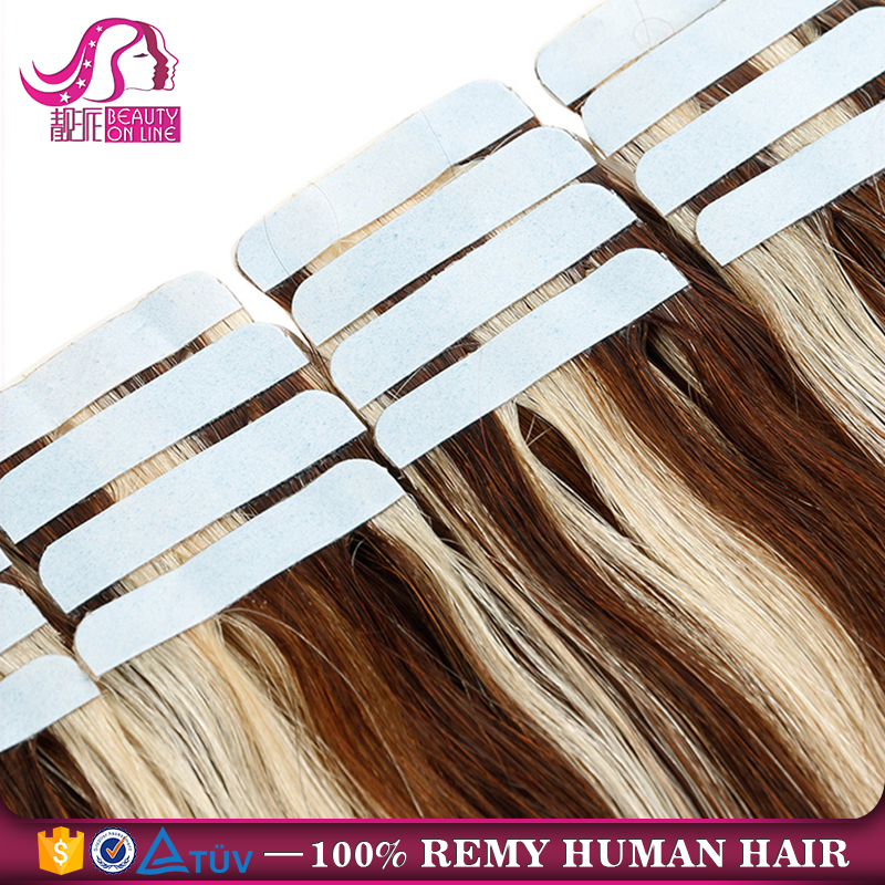 Real Virgin Hair Seamless Skin Weft Invisible Tape Hair Extensions