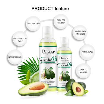 Disaar Skin Care Relaxing Natural Best Moisturizing Softener Avocado Essential Body Massage Natural Oil