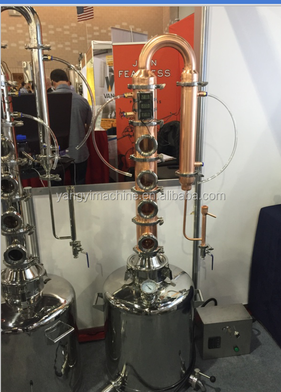 2'' 3'' 4'' bubble cap plates distiller column,reflux still with electronic thermometer