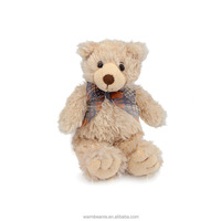 Promotional Best price Suntown high quality super soft plush stuffed animal toy,cute sitting bear with Bow ribbon toys for kids