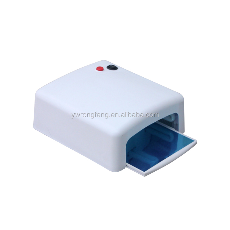 manicure station 36W White Nail Dryer UV Lamp 220-240V Gel Curing Nail Art (EU Plug) with 4pcs 365nm UV Bulb Nail Tools