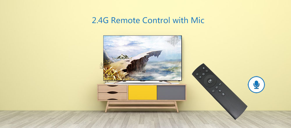 air mouse T1-M air mouse remote control with voice for smart tv box wireless keyboard air mouse