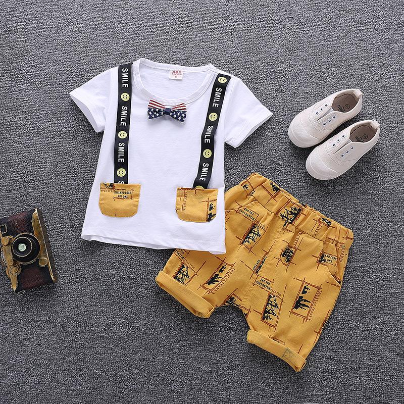 Wholesale Boys Two Piece Short Sleeve Children Clothes Set фото