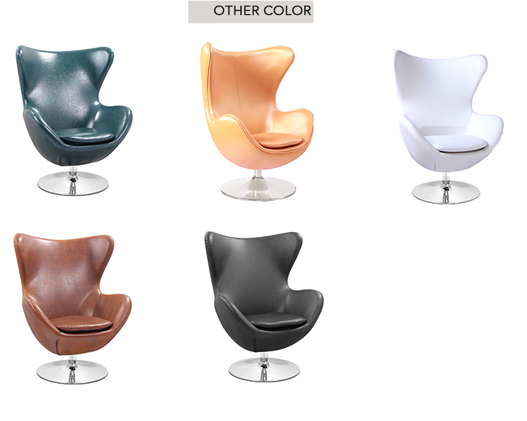 Telur kursi Arne Jacobsen, kursi putar, kursi santai