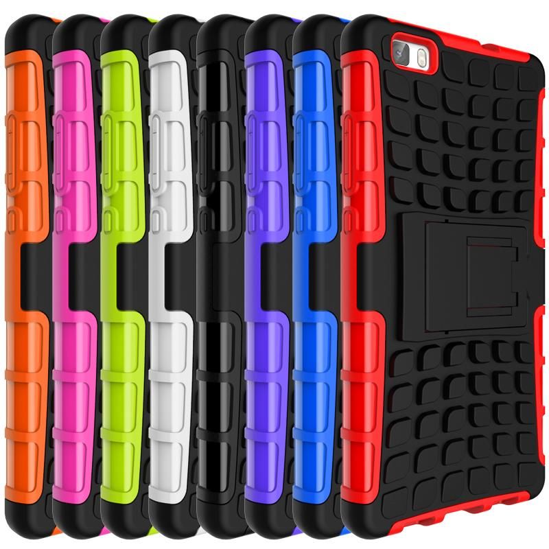 newest collection e4579 6c8a4 Wholesale-Case For Huawei P8 Lite Heavy Duty Armor Fundas Shockproof Hybrid  Kickstand Hard Rugged Rubber Cover For Huawei P8Lite Coque