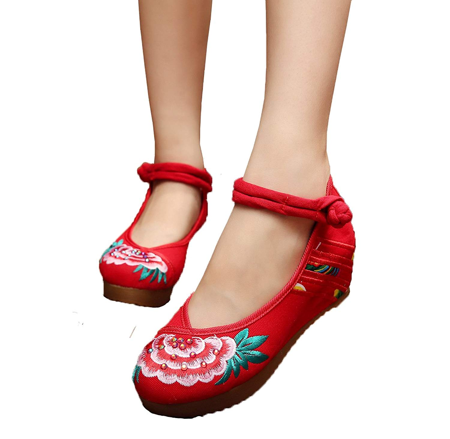 c1lint778563 5 Centimeters Pure Eleusine Indica Wedge Increased Women's Shoes Casual and Comfortable Soft Bottom Shoes