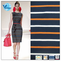 100% Cotton Yarn Dyed Stripe Pique Mesh Fabric Wholesale for Baby Clothes,Garment,T shirt etc