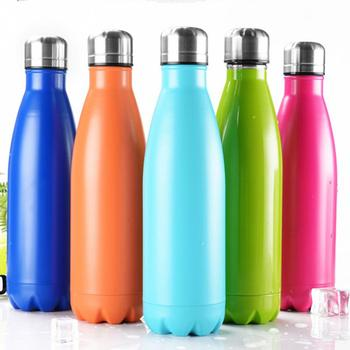 500ml Sports Water Bottle Cycling Camping Sports Water Drinking Bottles Stainless Steel Vacuum Insulation for Cold Drinks