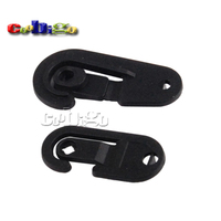 Black Plastic Sock Hook Hanger For Sock Stocking Packaging And Displaying #FLC229A-B/B-B