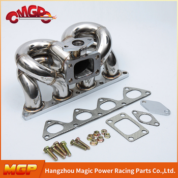 1.55-1.8mm Racing Stainless Steel Chevy Turbo Tractor Exhaust Manifold For H*ONDA-RAM-HORN-B-SERIRES