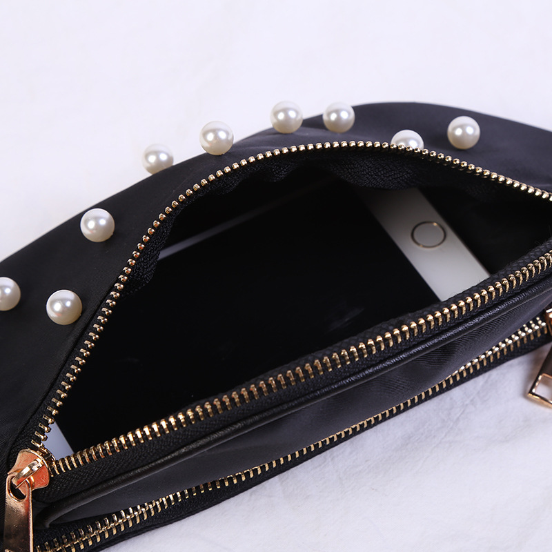 2019 Spring New Style Pearl Decorate Waist Bag Lady Beauty Women Bags Purse Travel Belt Wallets Fanny Bags