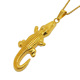 Trendy Products 316L Stainless Steel Crocodile Jewelry Gold Plated Alligator Pendant Necklace for Men