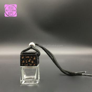 7 Ml Mini Glazen Fles Opknoping Auto Parfum Hanger Met Logo