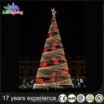 red and white spiral rope light christmas tree with led lights ip44 - Led Light Christmas Decorations