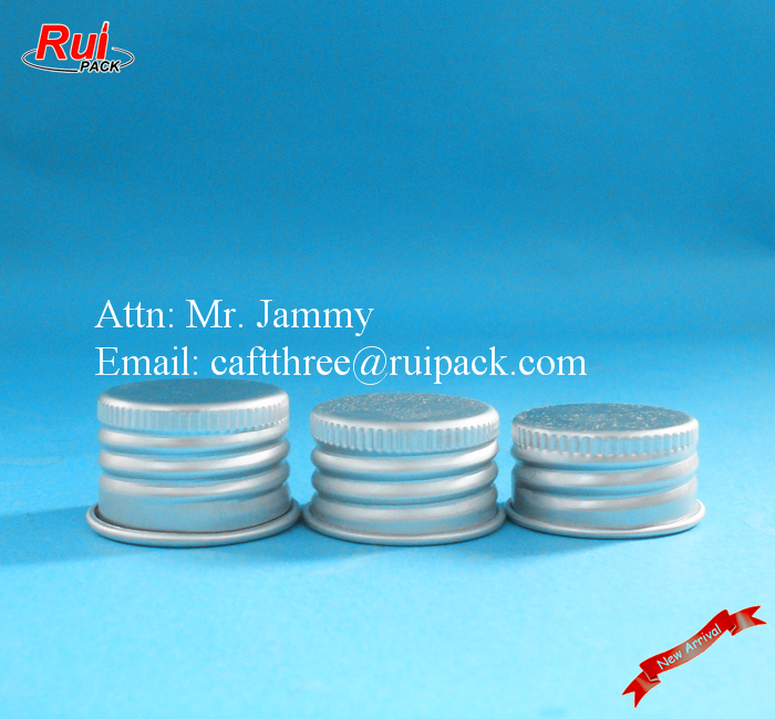 Fancy aluminum metal screw lid on bottle closure 24mm 28mm