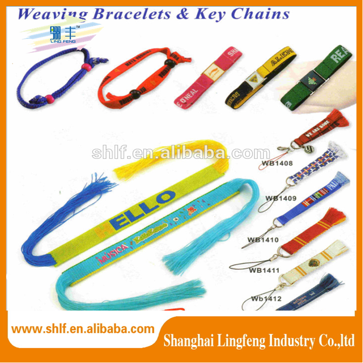Promotion Wholesale Weave Bracelets Key Chain Short Lanyards