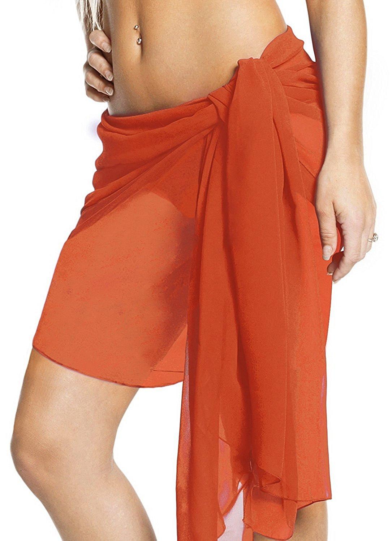 cfd4335da7 Get Quotations · Womens Pareo Wrap Scarf Bathing Suit Swimsuit Swimwear  Sarong Bikini Cover up