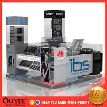 Customized images design mall cellphone shell / laptop / mobile repair kiosk for sale