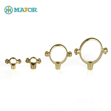 Customized brass hangers strap brackets clamps support single or double ring pipe clip
