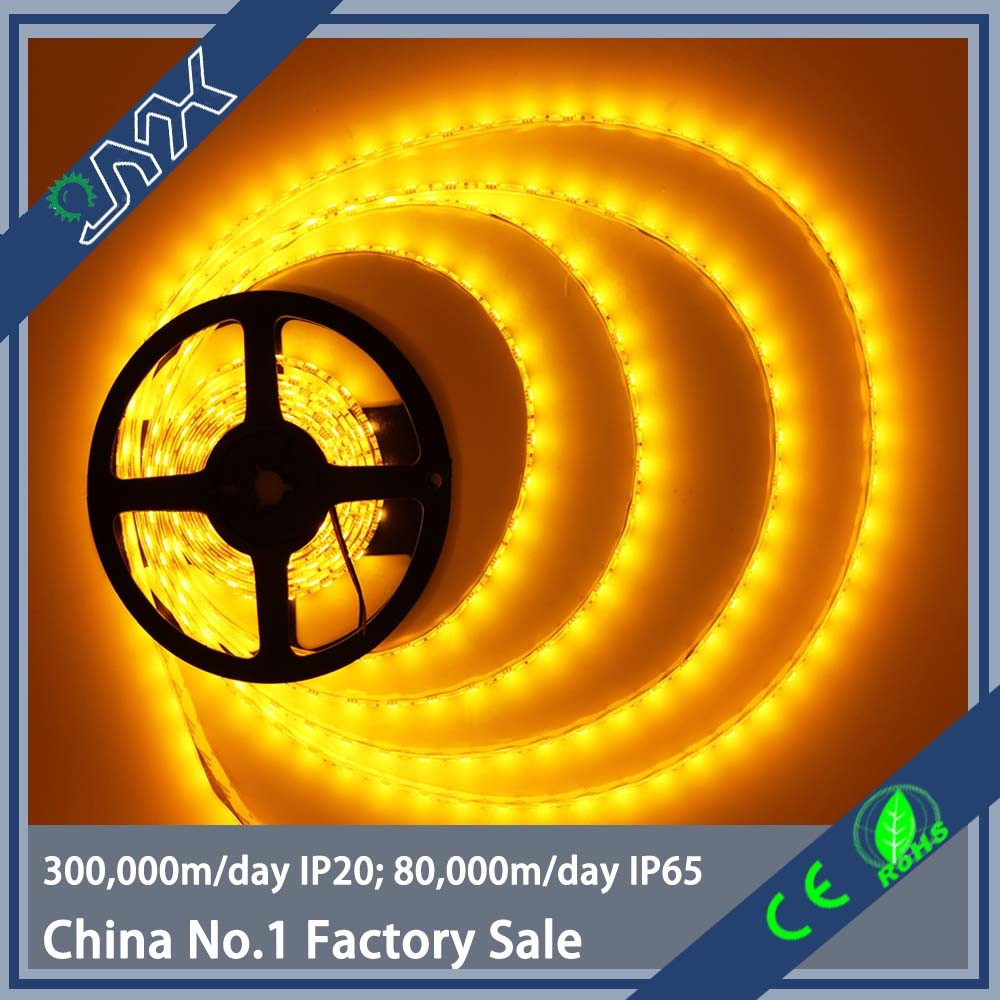 SMD 5050 LED Strip 5M 60led/m DC12V/24V IP65/67 Flexible Ribbon Diode Tape Yellow color Light
