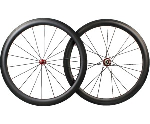full carbon fiber 700c wheelset 50mm UD matte finish rims 24h