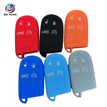 AS071010 Silicone Car Key Cover Case skin shell protect for JEEP for Dodge for CHRYSLER 4 Button
