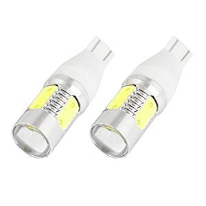 Water & Wood Pair 5 LEDs Reversing Parking Light Lamp Bulb T15 7.5W White for Auto with Car Cleaning Cloth