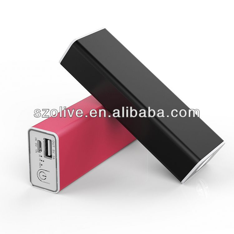 Aluminum alloy power bank for smartphone, Samsung, htc, backberry