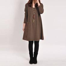 Oblíbené volné šaty s dlouhým rukávem, 8 velikostí, 5 barevných variant