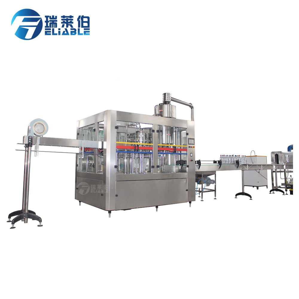 PET/glass bottle soda water filling line carbonated drinks bottle machinery soft water filling plant