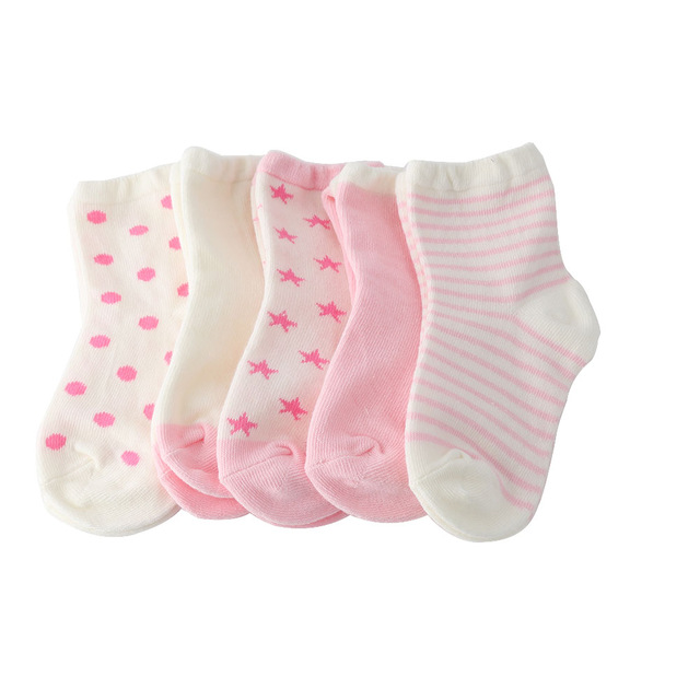 5 Pairs Baby Cartoon Cotton Socks Kids Soft Sock Comfortable Boy Girl Ankle Socks