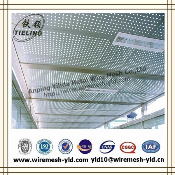 high quality aluminum perforated fireproof ceiling&ceiling tile(ISO9001:2008)