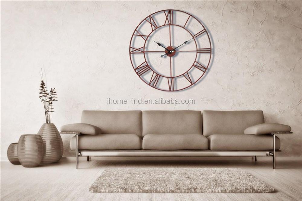 horloge murale grande taille antique horloge 30 pouces. Black Bedroom Furniture Sets. Home Design Ideas