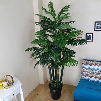 Faux Succulents Vertical Gardening Solar Palm Tree