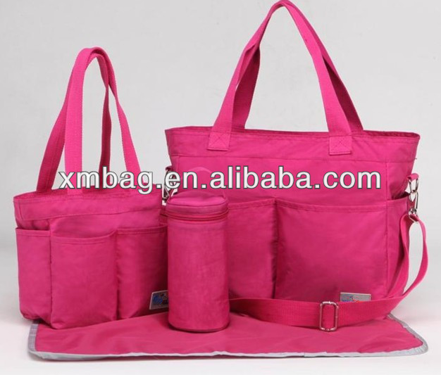 large storage mami handbags with bottle bags and diaper mats