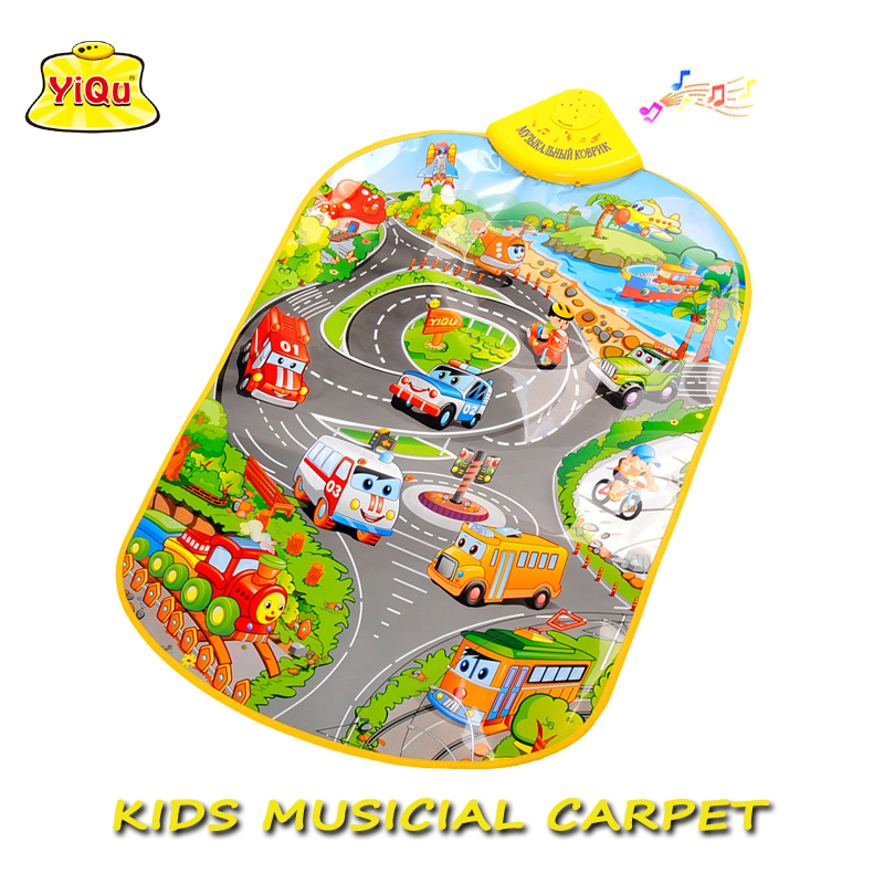 Waterproof Baby Play Mat Traffic Sound Kids Carpet Musical Puzzle ...