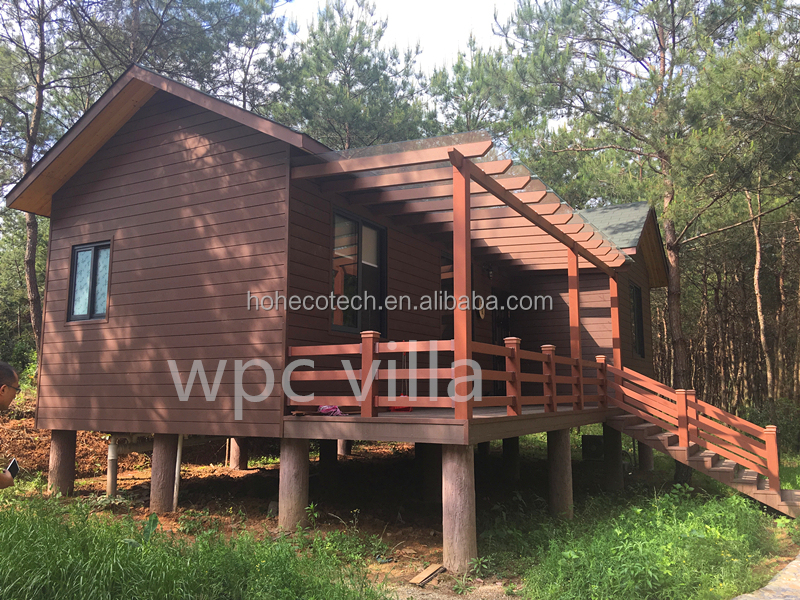 Luxury wpc wooden house wpc villa waterproof with good quality prefab house