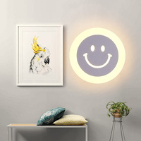 2019 hot sale LED indoor white wall lamp 15W decorative smile shape wall light for children room