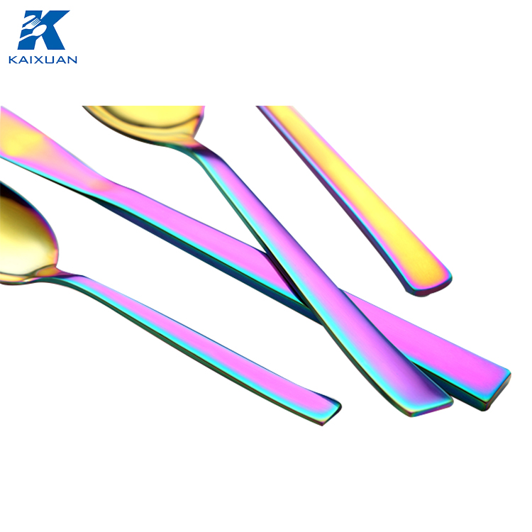 shiny rainbow tableware colored Cutlery Set