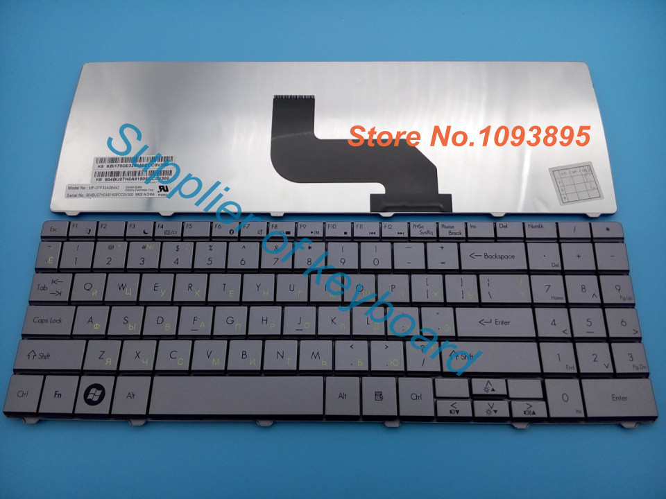 Русская клавиатура для Packard Bell EasyNote MS2273 MS2274 MS2285 MS2288 RU клавиатура серебристо-серый