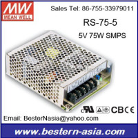 110v dc power supply meanwell RS-75-5 5V 60W