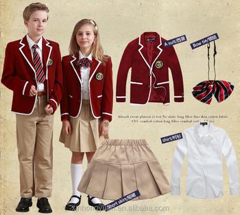 9d4cefe2e2 Custom Middle School Boys And Girls School Uniform Boys Blazers with Shirts