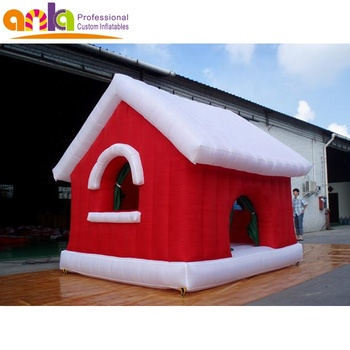Movable inflatable Christmas tent house Santa Claus decoration for sale