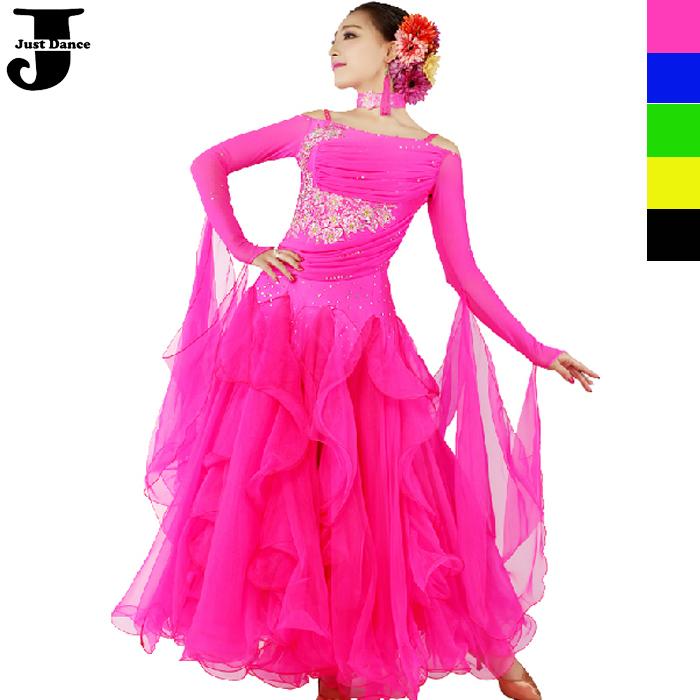 Ballroom Led Costume Violet/red/black Ballroom Dress For Women Shoulder Strap Kaka Dance Dress Lotus Leaf Collar Disfraces Women Online Shop
