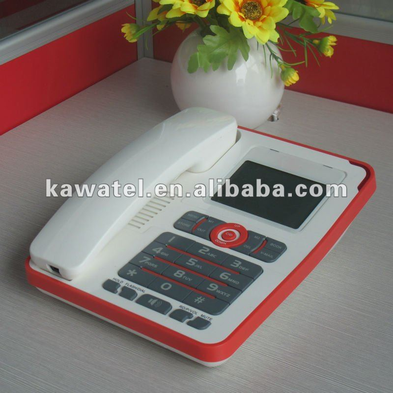 Touch panel caller id phone with caculater