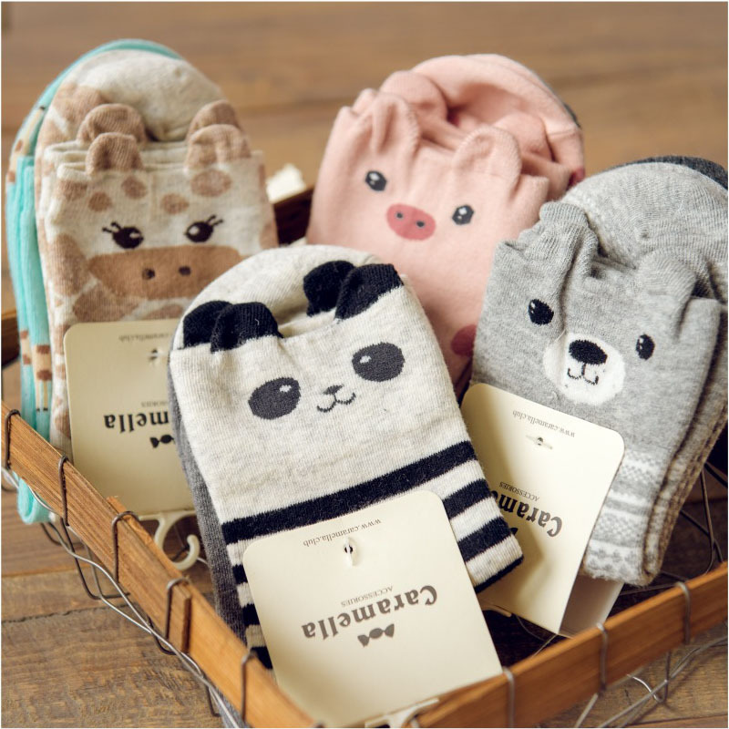 New Brand Caramella Kawaii Animal Socks Cute Japanese